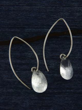 Marquis Brushed Petal Earrings