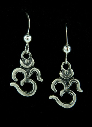 Ohm Yoga Silver Earrings