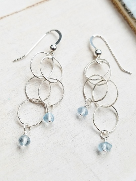 Spheres Earrings - Aqua