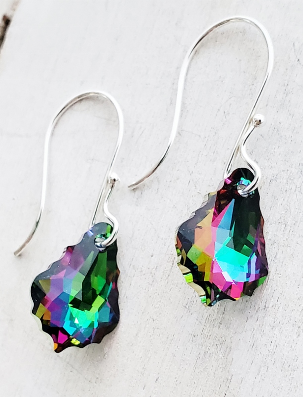 Silver Crystal Electra Earrings