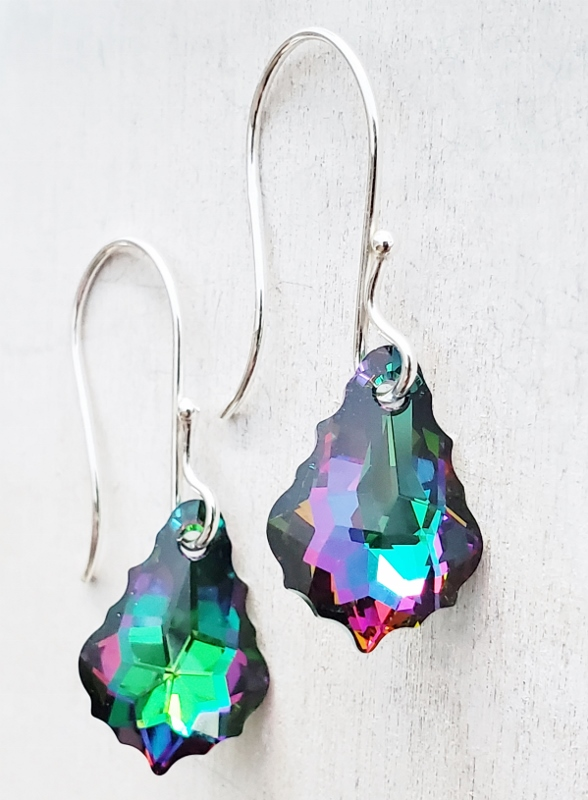 Silver Crystal Electra Earrings