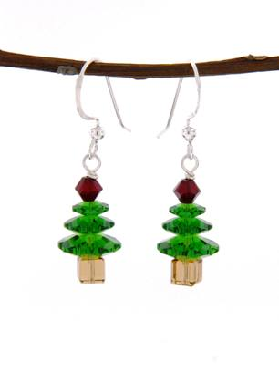 Xmas Tree Earrings