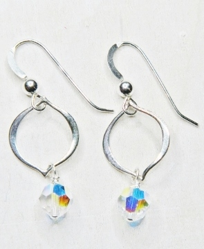Arabesque Crystal Earrings - Swarovski Crystal Clear AB