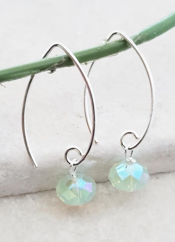 Marquis Chrysolite Opal Crystal Earrings