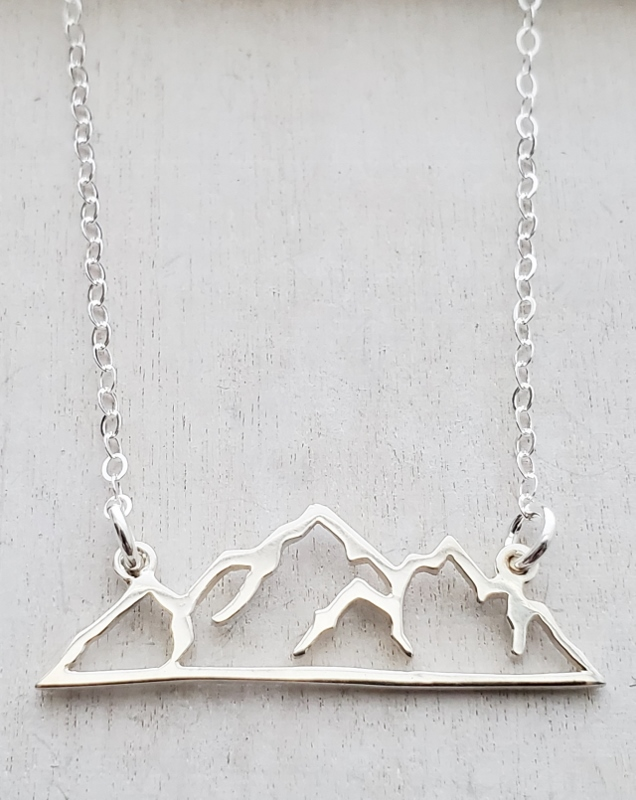 Silver Mountain Silhouette Necklace