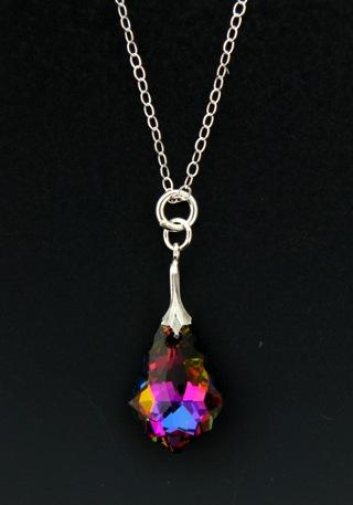 Silver Crystal Electra Necklace