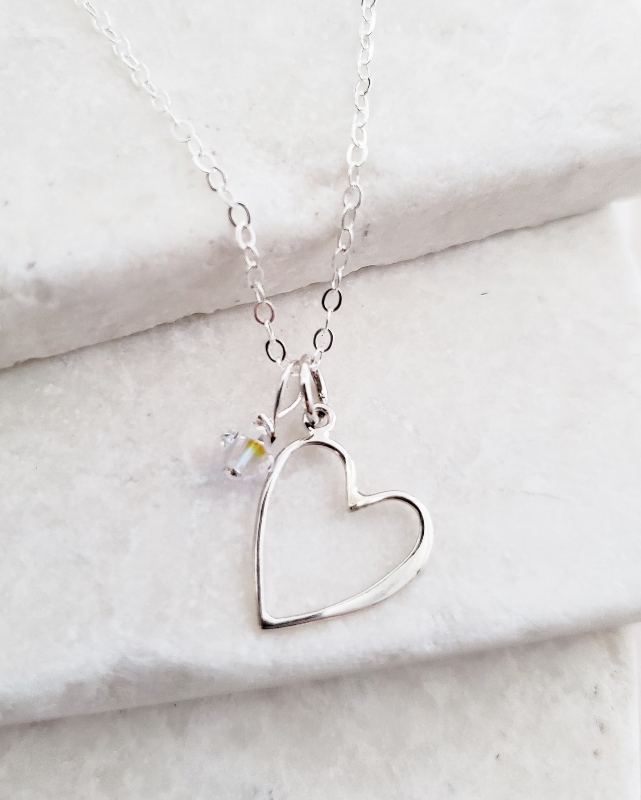 Silver Open Your Heart Necklace