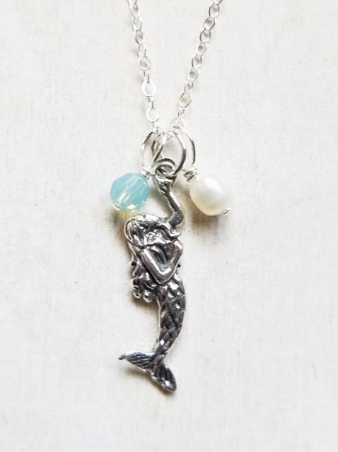 Silver Mystical Mermaid Necklace