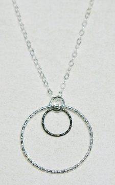 Two-Tone Mixed Metal Diamond Cut Necklace