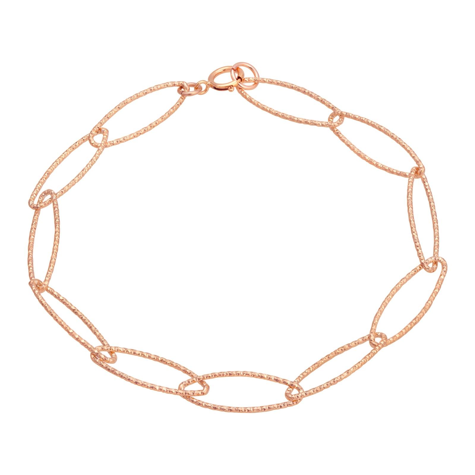 Rose Gold Diamond Cut Bracelet