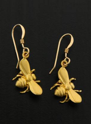 Gold Bumble Bee Earrings