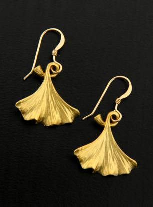 Golden Gingko Earrings