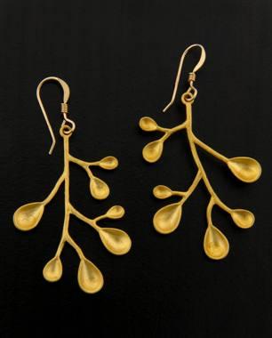 Golden Pods Earrings