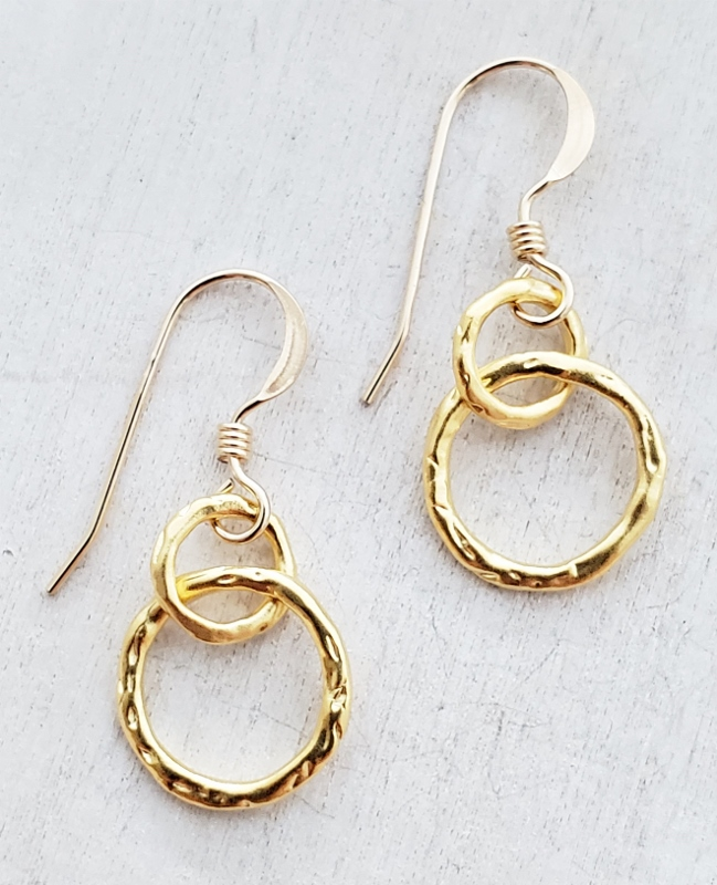 Gold Organic Ringlet Earrings