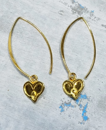 Vermeil Marquis Heart Earrings