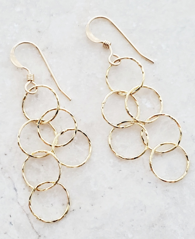 Gold Over Sterling Silver Spheres Earrings