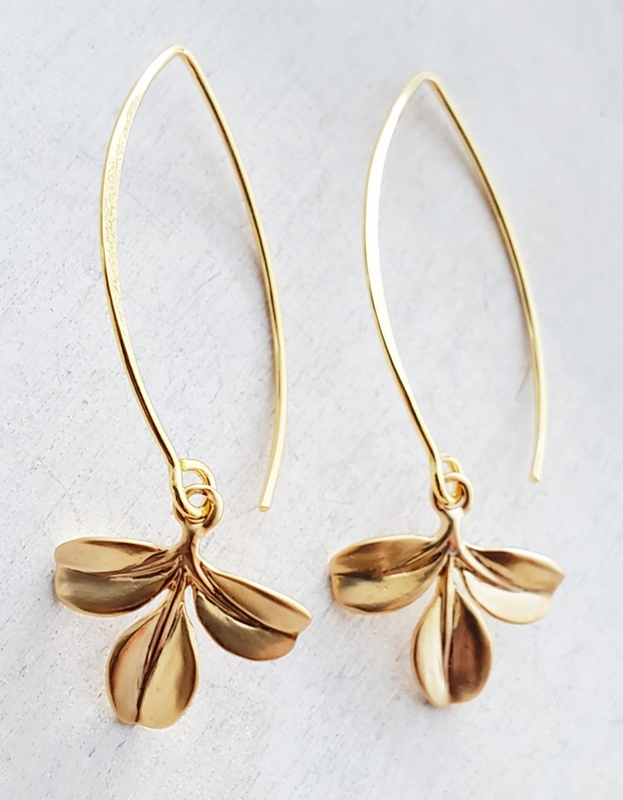 Vermeil Marquis Petite Branch Earrings