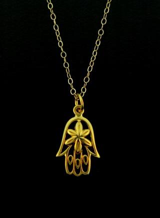 Gold Vermeil Hamsa Necklace