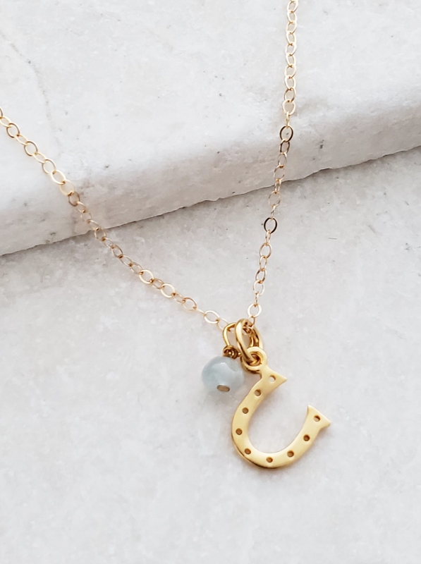 Gold Lucky Horseshoe Necklace