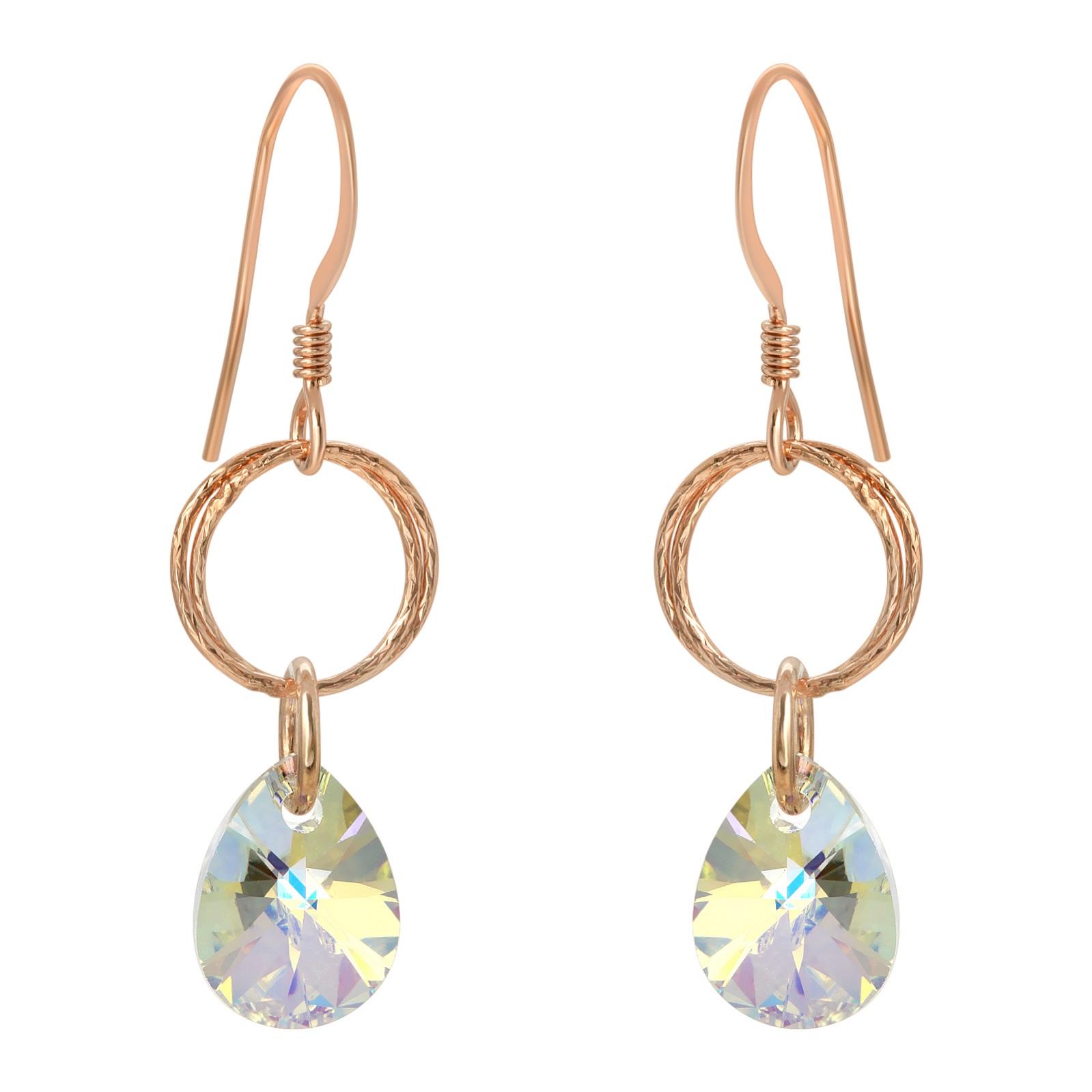 Rose Gold Diamond Cut Clear AB