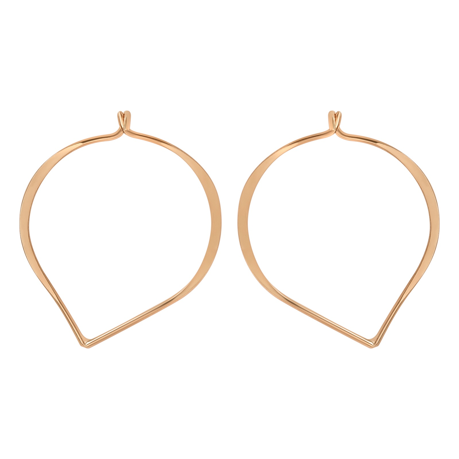 Rose Gold Lotus Petal Hoops