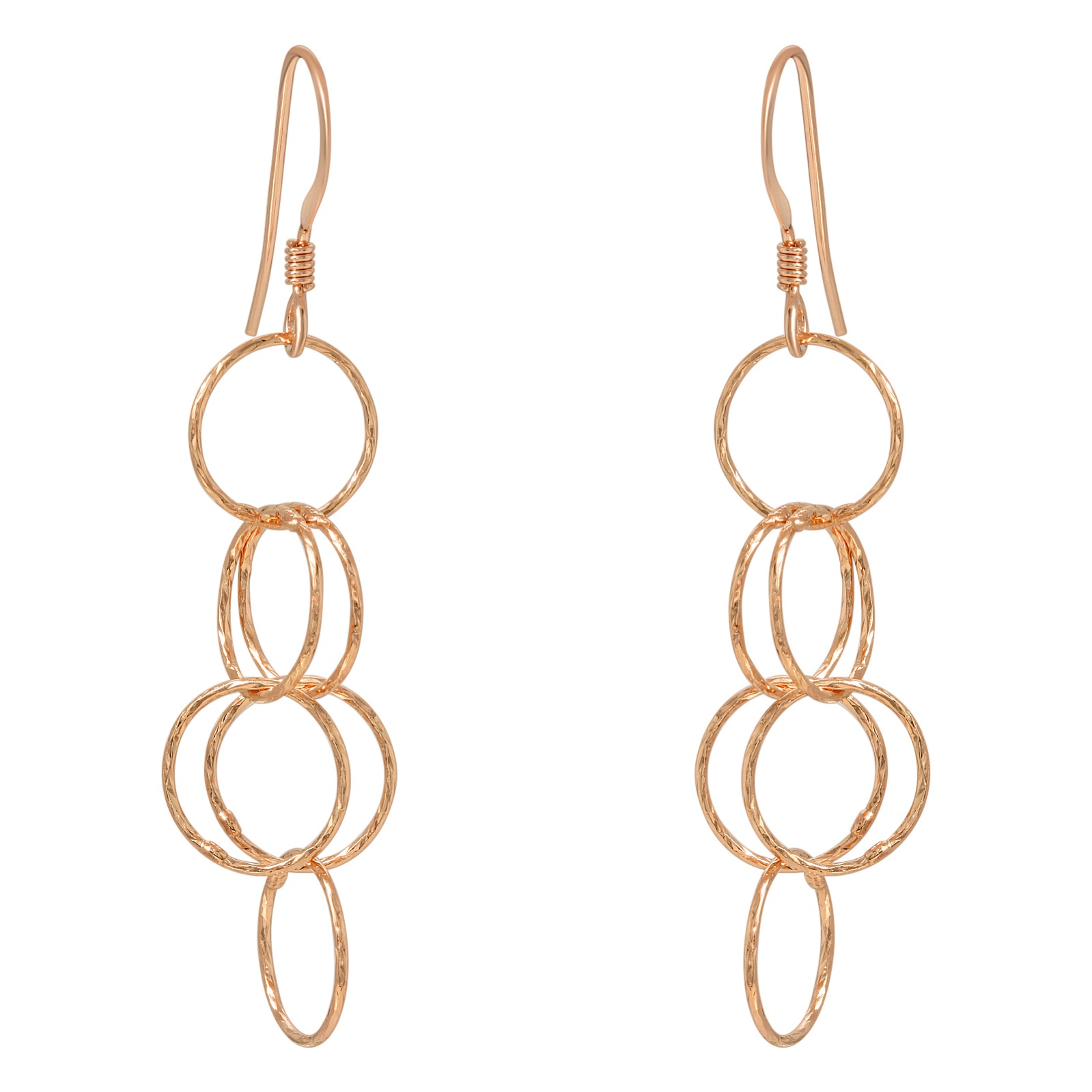 Rose Gold Spheres Earrings