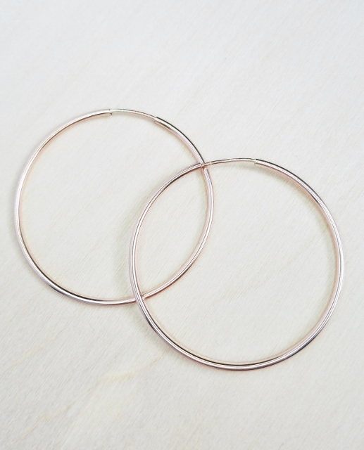 Rose Gold Endless Hoops - 35mm