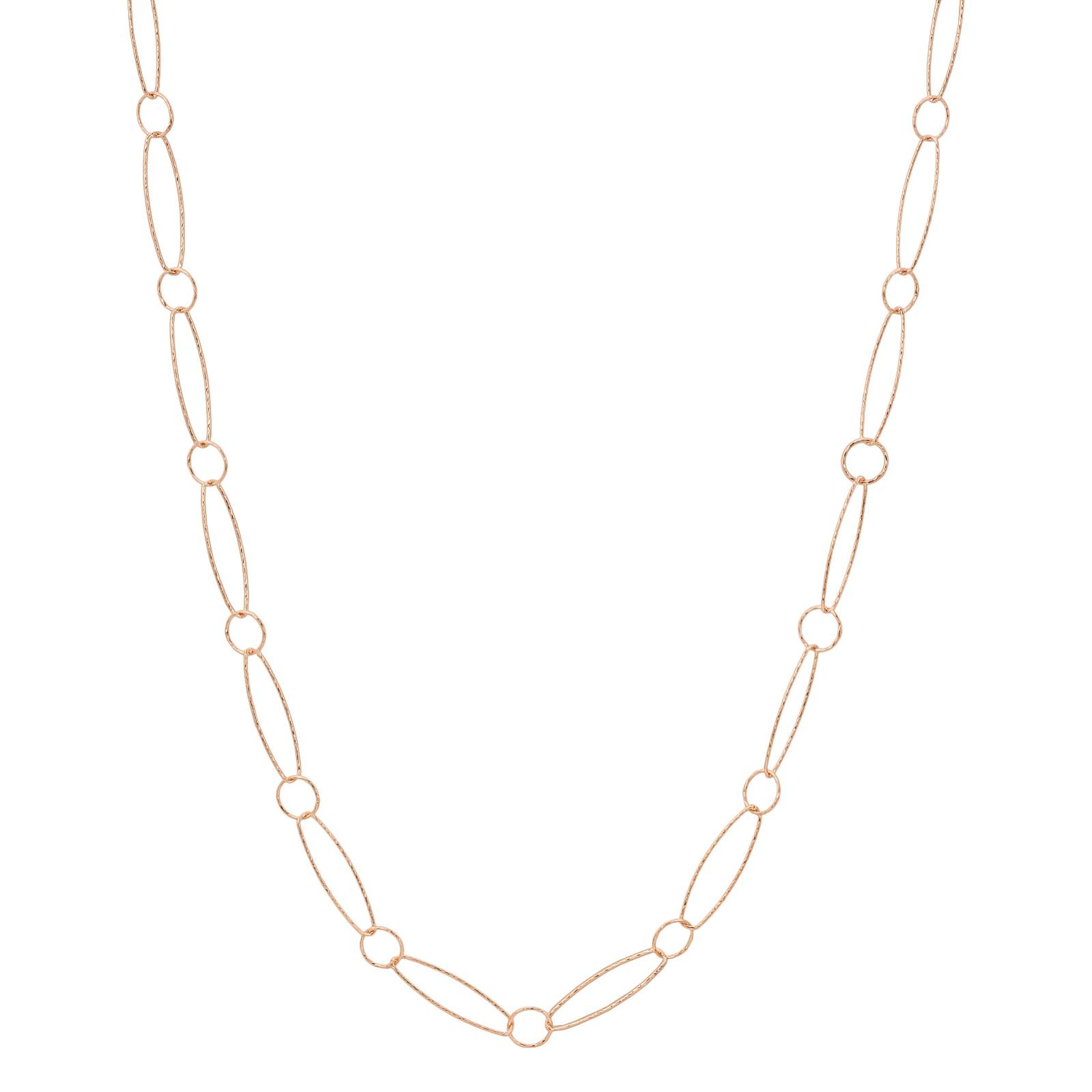 "36"" Rose Gold Diamond Cut Combo Necklace"