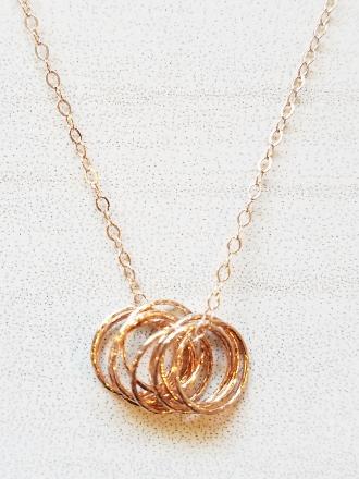 Rose Gold Cluster Necklace