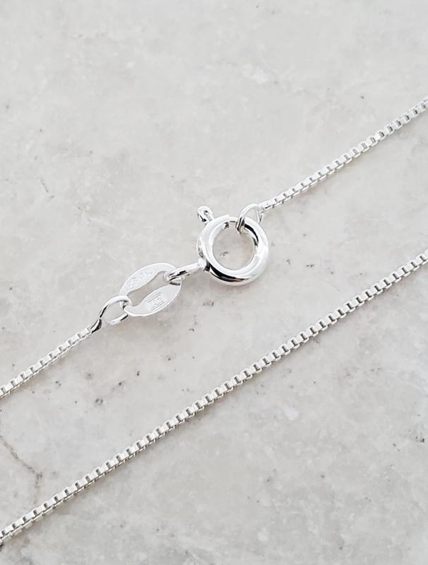 "Sterling Silver Box Chain 18"""