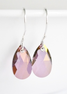 Purple Haze Crystal Briolette Earrings