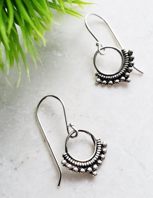 Silver Bali Dangle Earrings