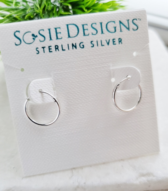 Silver Tiny Endless Huggie Hoops