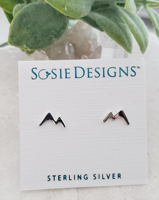 Silver Mountain Silhouette Studs