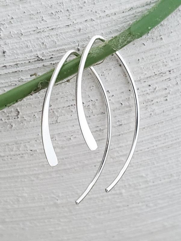 Silver Open Wishbone Earrings