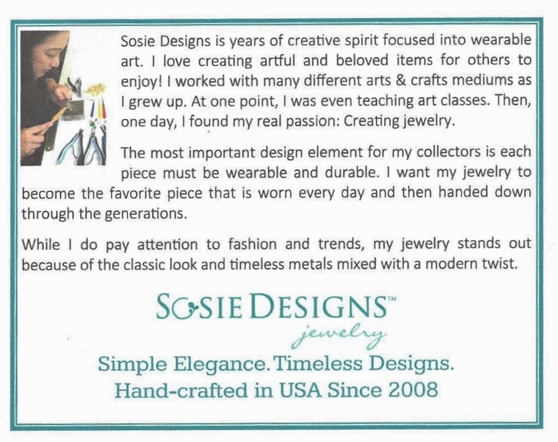 Sosie Designs Bio Card
