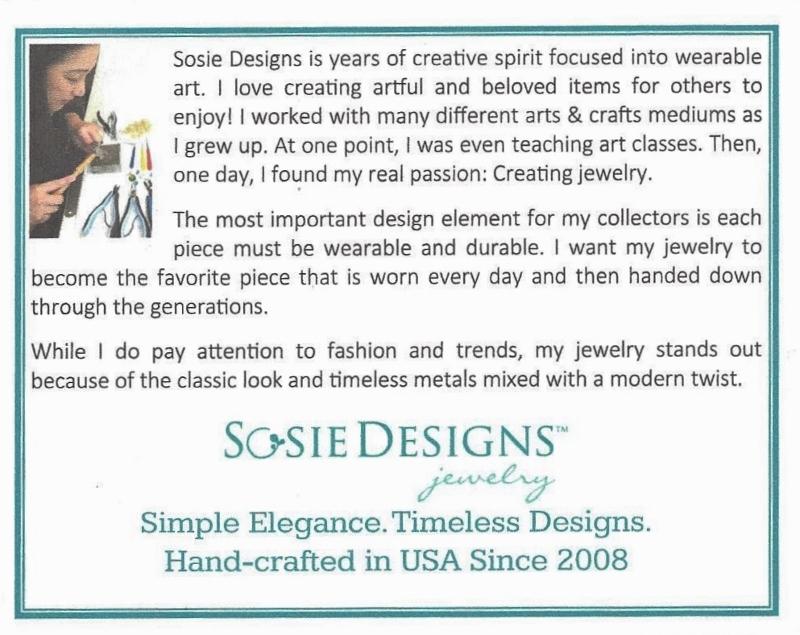 Sosie Designs Bio Card