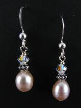 Classic Pink Pearl Earrings