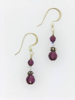 Small Drop Earrings Amethyst