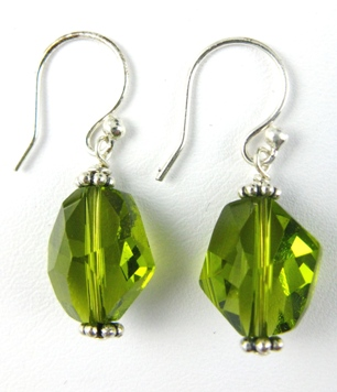 Cosmic Olivine Earrings
