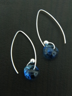Curled Marquis Earrings in London Blue