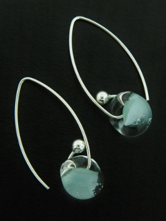 Curled Marquis Earrings in Sky Blue