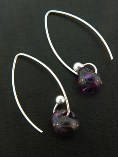 Curled Marquis Earrings in Mystic Purple