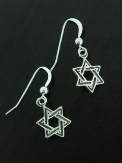Jewish Star of David Earrings