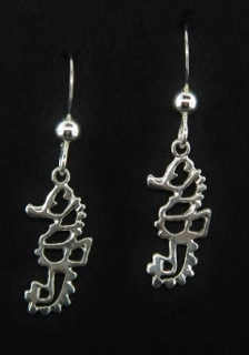 Seahorse Open Work Earrings