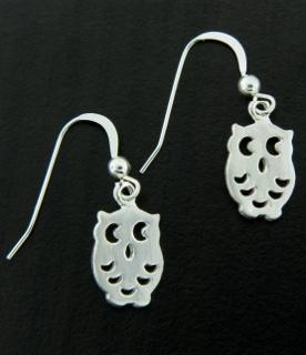 Spotted Owl Earrings