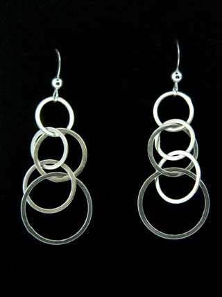Silver Bubbles Earrings