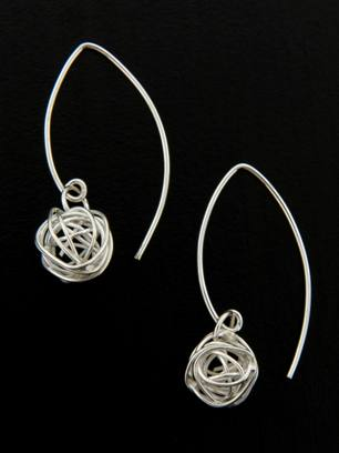 Small Marquise Mesh Earrings