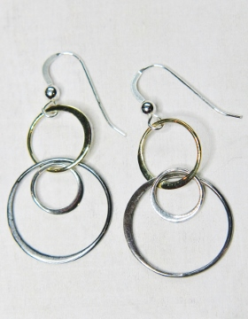 Mixed Metal Bubble Earring - Ver2