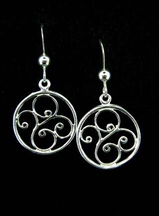 Silver Scrolled Swirls Earrings